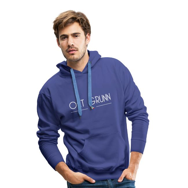 Oet grunn hoodie mannen blauw groningerplaza