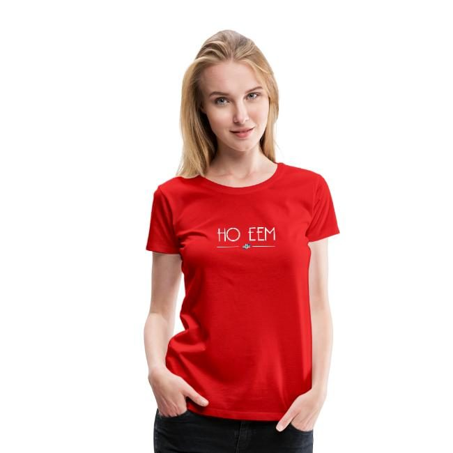 Ho eem t-shirt rood vrouwen Groninger Plaza