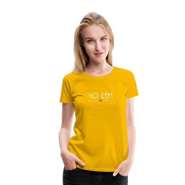Gele variant van ho eem t-shirt dames GroningerPlaza