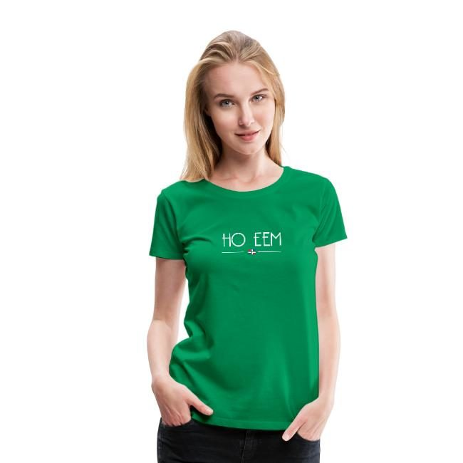 Groene variant van ho eem t-shirt voor dames GroningerPlaza
