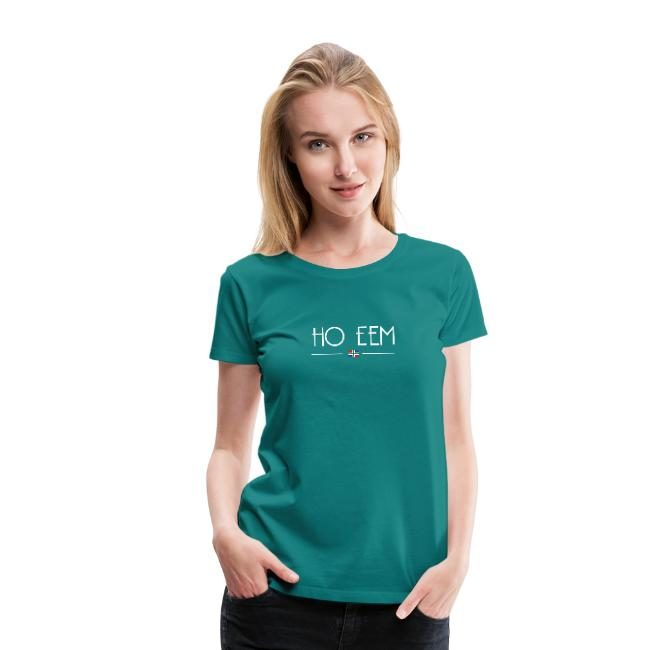 Ho eem t-shirt dames groen Groningse webshop