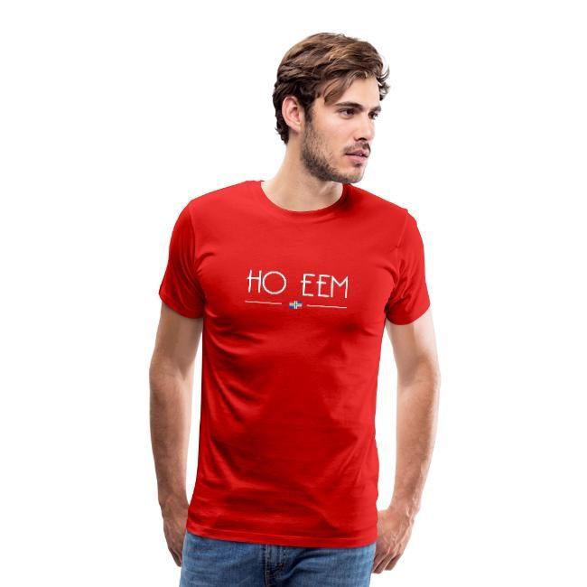 Rode versie van ho eem t-shirt voor mannen GroningerPlaza