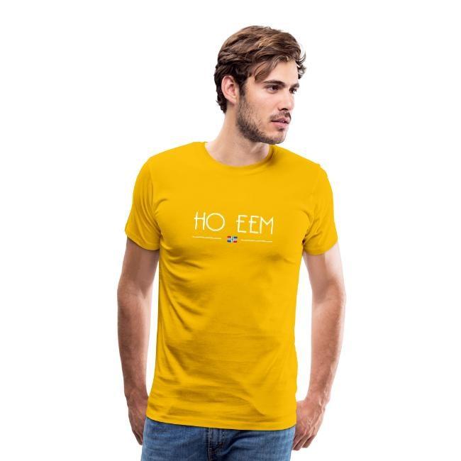 Gele versie van ho eem t-shirt mannen GroningerPlaza