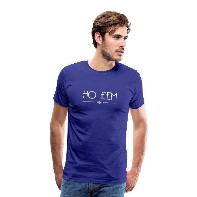 Blauwe versie van ho eem t-shirt mannen Groninger Plaza
