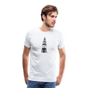 t-shirt mannen met opdruk Martinitoren in het zwart.