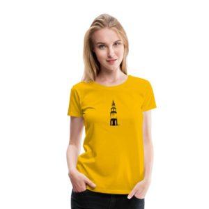 t-shirt martinitoren zwart vrouwen geel