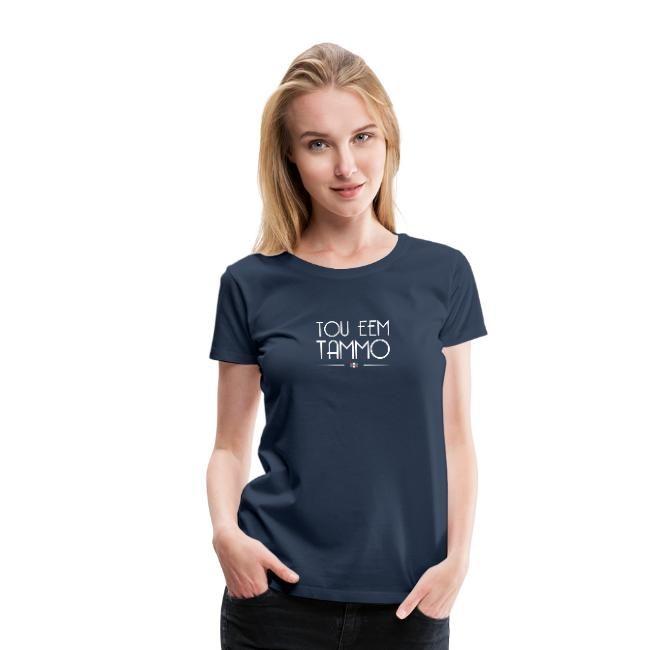 tou eem tammo t-shirt dames blauw
