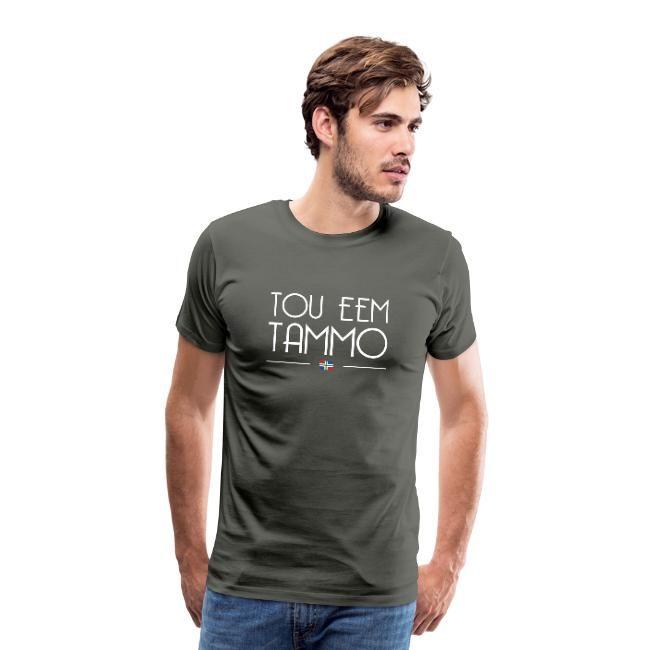 tou eem tammo t-shirt in het bruin grijs voor mannen